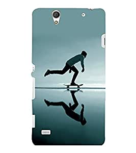 printtech Skateboard Man Mirror Back Case Cover for Sony Xperia C4 Dual E5333 E5343 E5363::Sony Xperia C4 E5303 E5306 E5353