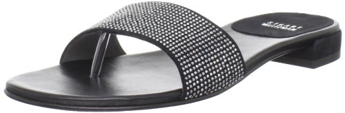 Stuart Weitzman Women's Studdenly Slide Sandal,Black Suede,7.5 M US