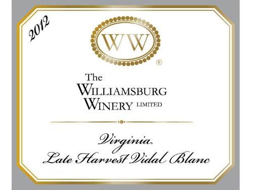 2012 Williamsburg Late Harvest Vidal Blanc 750 Ml