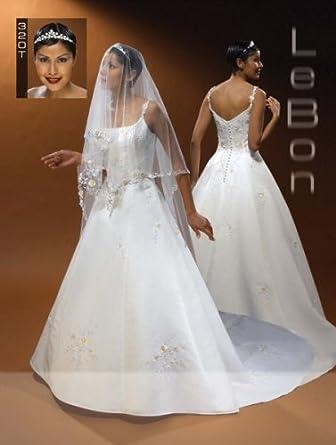 Lebon Bridal Couture Ivory/Multi Size 14 Formal Bridal Gown Wedding Dress