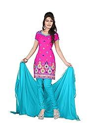 Shree Vardhman Synthetics Rani Semi Cotton Top Straight Unstiched Salwar Suit Dress Material