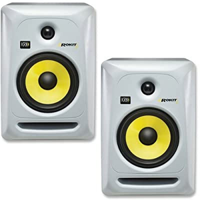 KRK RP6G3W-NA Rokit 6 Generation 3 Powered Studio Monitor - White - Pair by KRK