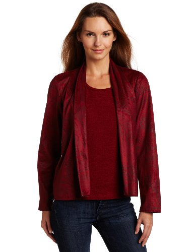 Sag Harbor Women's Missy Embossed Duet Sweater Combo