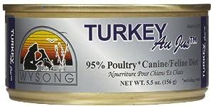 Au JusTM Canned Turkey Diet Wet Dog / Cat Food Quantity: 5.5-oz, case of 24