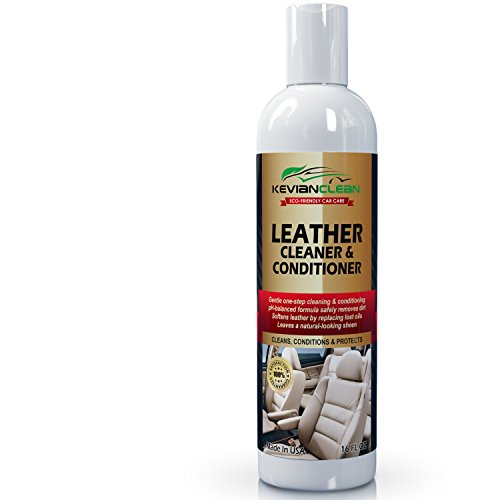 Leather Cleaner & Conditioner by KevianClean - Auto Interior Detailing, Furniture, Upholstery, Sofa, Couch, Handbag, Purse, Shoe, Boot, Jacket, Car Seat Care, Protector and Restoration - 16 oz. (Detailer Chair compare prices)