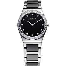 Bering Time 32430-742 Ladies Ceramic White Silver Watch