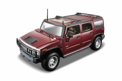 Maisto 1:24 AL 2003 HUMMER H2 SUV: Assembly Line Model Kit