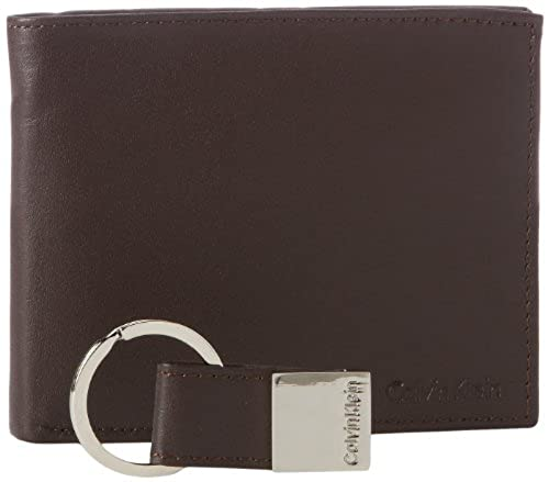 05. Calvin Klein Men's Leather Bifold Wallet with Key Fob