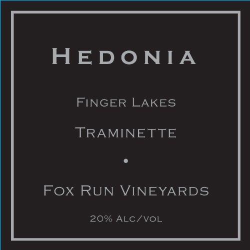 """Nv Fox Run Vineyards """"Hedonia"""" Traminette Dessert Wine 375 Ml"""