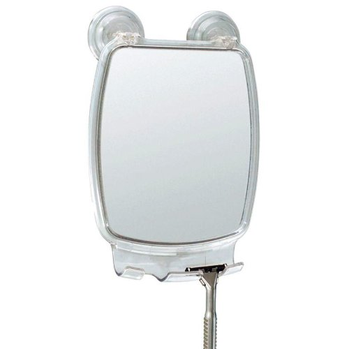 Fog Free Shower Shaving Rectangular Mirror - With Power Lock Suction Mount front-206851