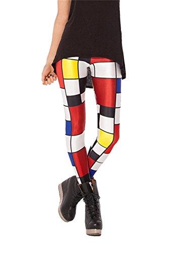Women'S Fashion Digital Print Church Windows Pattern Sexy Leggings