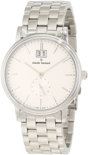 Claude Bernard Men's 64011 3 AIN Classic Gents Silver Dial Stainless Steel Big Date Watch