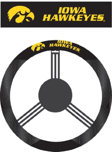 NCAA Iowa Hawkeyes Polysuede Steering Wheel Cover
