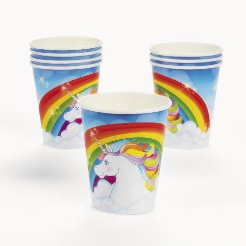 Unicorn Rainbow Cups (8 pc)