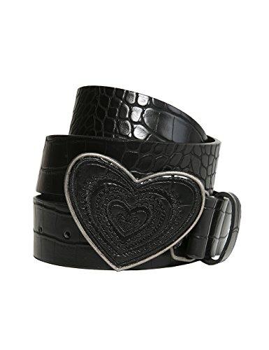 Desigual Cint_Hearts, Cintura Donna, Nero (Negro 2000), 90 cm (Taglia Produttore: 90 Cm)