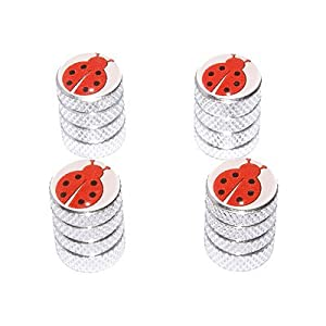 Ladybug Lady Bug - Tire Rim Valve Stem Caps - Aluminum