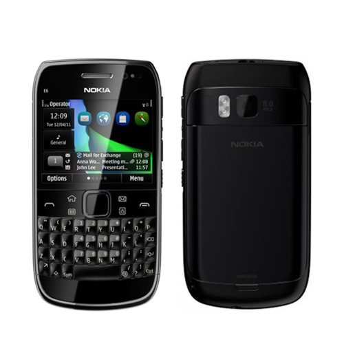 417Dl5CFxuL Nokia E6 Unlocked GSM Phone with Touchscreen, QWERTY Keyboard, Easy E mail Setup, GPS Navigation, and 8 MP Camera  U.S. Version with Warranty (Black)