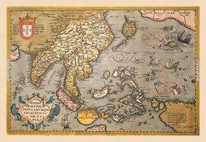 12 X 18 Stretched Canvas Poster Map of South East Asia