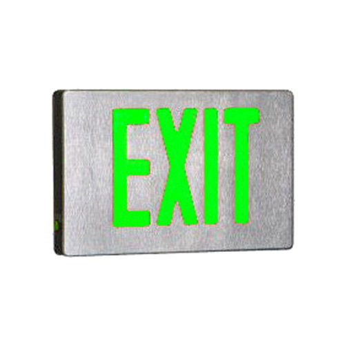 Royal Pacific RXL16GBA-SD Double Face, Self Diagnostic Die-Cast Exit Sign, Brushed Aluminum with Green Letters