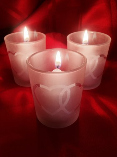 Spring Rose(TM) Double Heart Wedding Votive Candle Holder(set of 12). Includes White Unscented Candle. These Are Perfect For Wedding Decorations Or Favors. A Must For Your List Of Party Supplies.