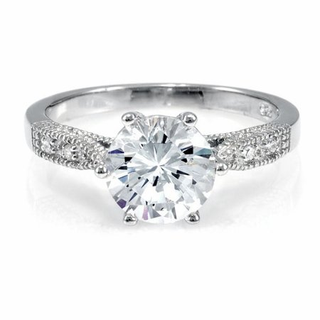 Ruth's Promise Ring - Round Cut CZ Cubic Zirconia