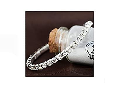Fashion Bracelet Swarovski crystal Element White Gold Plated Zirconia Diamond Pearl Silver