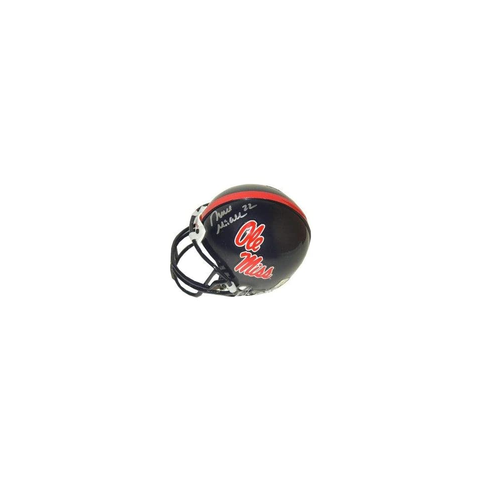 Deuce McAllister Autographed Mini Helmet   Autographed NFL Mini Helmets