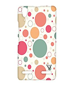 Vogueshell Dot Pattern Printed Symmetry PRO Series Hard Back Case for Lenovo A6000