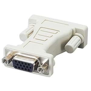 ELECOM ディスプレイ変換アダプタ D-Sub15ピン(ミニ)メス-DVI29ピンオス AD-D15FTDVM