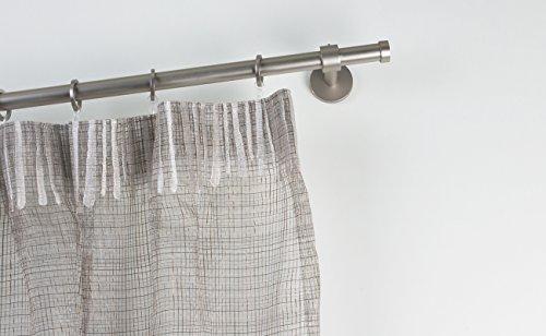 Bastone per tende Ø 20 mm, L. 140 cm. in acciaio satinato – completo