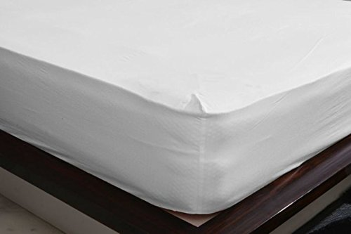 SDS!! 500-Thread-Count Egyptian Cotton Super Soft Extra Deep Pocket Fitted Sheet/Bottom Sheet Twin Extra Long Solid white Fit Up to 21