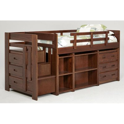 Low Loft Bed With Storage 536 front