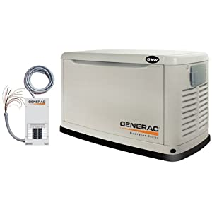 Generac Guardian Series 5501 8,000 Watt Air-Cooled Propane/Natural Gas Powered Home Automatic Standby Generator with Steel Enclosure (CARB Compliant)