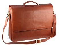 Hot Sale Visconti Leather Business Case, Briefcase, Business College Handbag ,Ladies Pocketbook (Large, Brown) 658