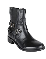 Salt N Pepper Criminal Black 100% Genuine Leather Men Mid Ankle Boots