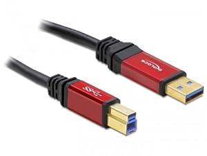 DELOCK Kabel USB 3.0 rot A-B St/St 5.0m
