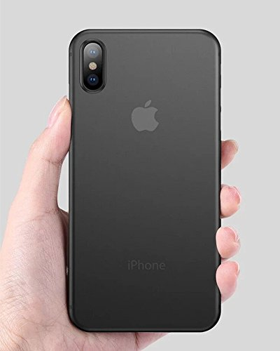 iPhone X Case, Thinnest iPhone X Case, Ultra Thin Light iPhone Skin Protective Only 0.33mm - For Apple iPhone X | iKaracase (Black) [+Peso($35.00 c/100gr)] (US.AZ.14.99-0-B07CL24978.0)