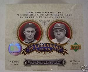 2006 Upper Deck SP Legendary Cuts Baseball Cards Unopened Hobby Box (4 cards per... by SP