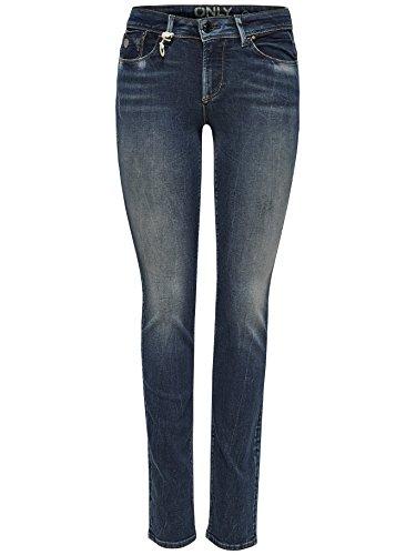 Solo da donna onlsisse Reg Slim Dnm Jeans rim3580Jeans Blu (Medium Blue Denim) 26 W/30 L