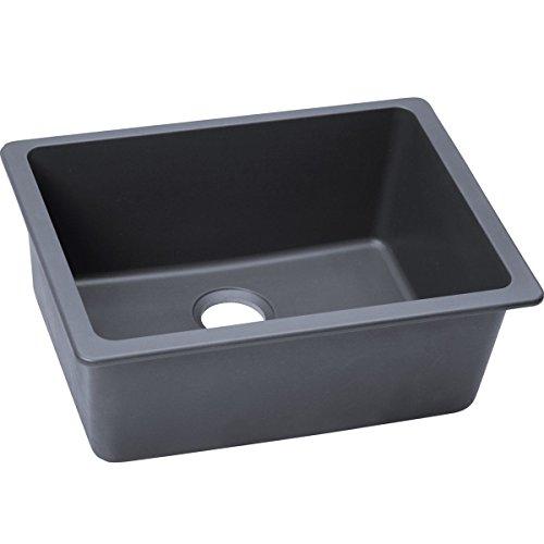 Elkay ELGU2522GY0 Quartz Classic 25-Inch X 18.5-Inch X 9.5-Inch Single Bowl Undermount Kitchen Sink, Dusk Gray (Elkay 25 Sink compare prices)