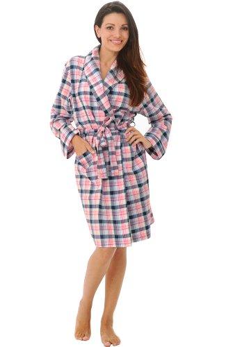 Del Rossa Women s Cotton Flannel Robe 0d0e0cdf4