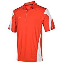 Nike Men's Dri-Fit Swoosh Logo Check Down Training Polo Shirt-Red