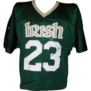 Notre Dame #23 Game Used 2006-07 Green Lacrosse Jersey - Steiner Sports Certified - Jerseys