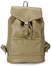 The House Of Tara PU Leather Overnighter Hiking Weekender Backpack (Nomad Beige) HTBP 119