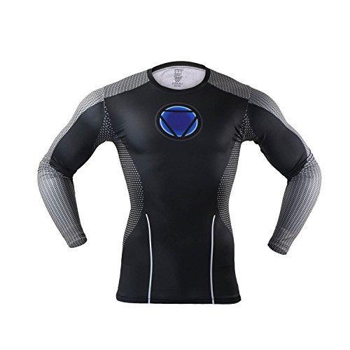 MBaxter-Camiseta-Delgada-de-Manga-Larga-Ropa-de-Deporte-Ropa-Deportiva-Manera-de-los-Hombres