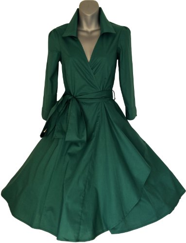 GREEN 50′s STYLE ROCKABILLY / SWING / PIN UP COTTON WRAP