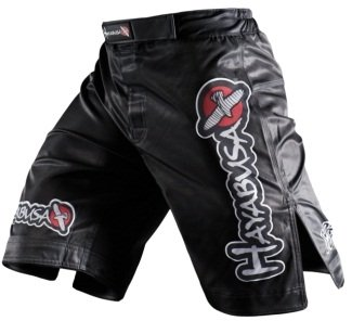 Hayabusa Official MMA Shiai Fight Shorts - Color: Black, Size: 36
