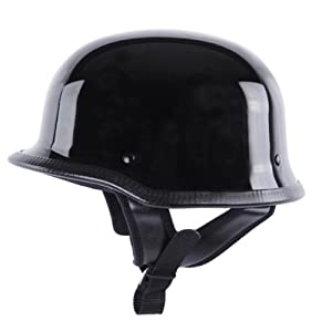 Motorcycle Helmets Dot >> Amazon.com: German Helmets - DOT German Motorcycle Helmet 115 Black, Large: Automotive