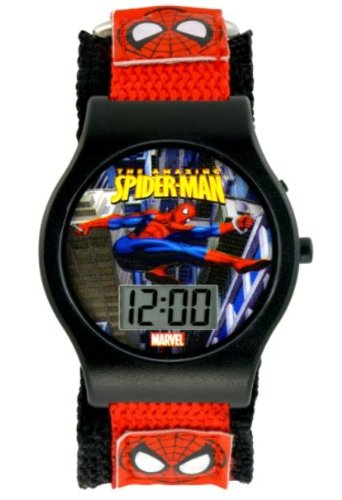 Spiderman LCD Watch with Fastwrap Band