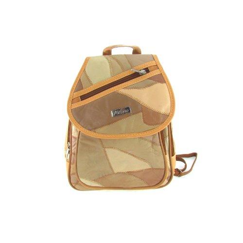 Leder Rucksack Damentasche Reise Tasche in verschiedenen Brauntönen